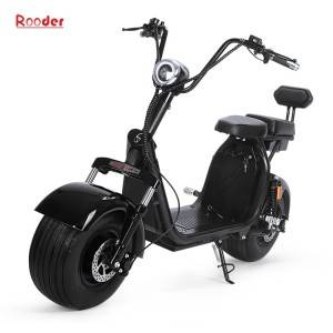 EEC citycoco big electric wheel scooter harley with removable battery R804g showed electric exhibition