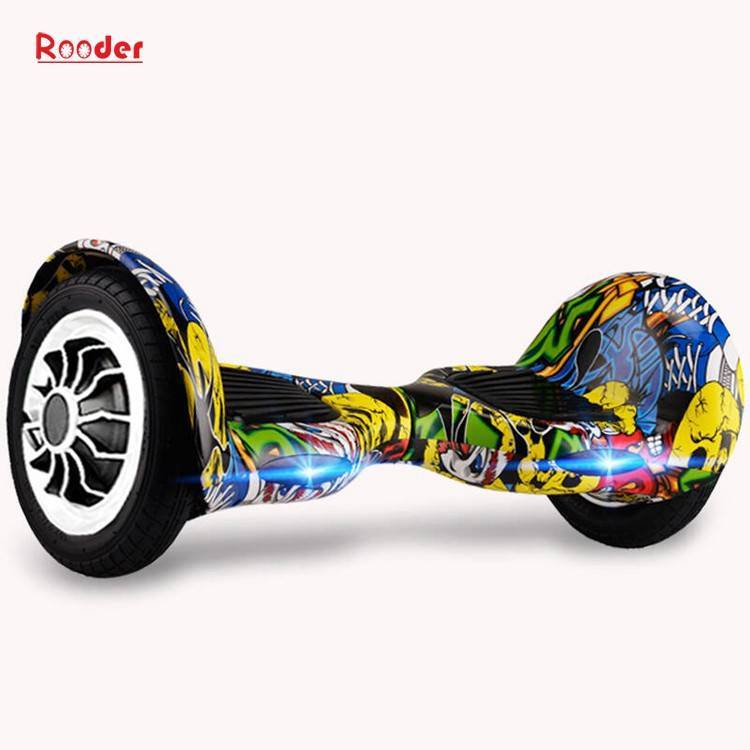 Rooder import smart balance electric scooter with taotao board gyroscope plastic shell 10 inch wheel samsung battery bluetooth remote supplier factory exporter (15)