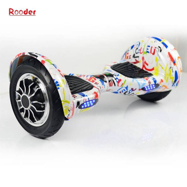 Rooder import smart balance electric scooter with taotao board gyroscope plastic shell 10 inch wheel samsung battery bluetooth remote supplier factory exporter (33)