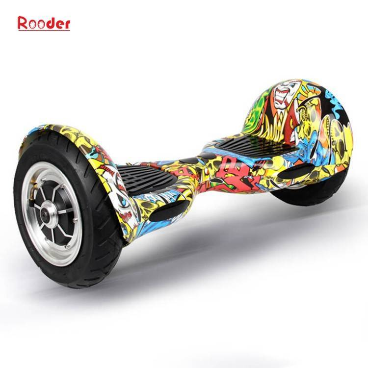 Rooder import smart balance electric scooter with taotao board gyroscope plastic shell 10 inch wheel samsung battery bluetooth remote supplier factory exporter (16)