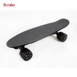Amazon hot sell China Rooder merk fjouwer-wheel strjitte elektryske skateboard r802 best off dyk mini cruiser skateboard mei Triedleas Bluetooth remote control