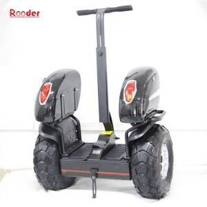 Rooder two wheel off road self balancing electric chariot scooter gyropode w7 with 19 inch wheels for security
