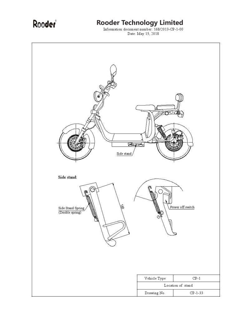 EEC approval harley electric scooter from Rooder Group Shansu technology limited (7)