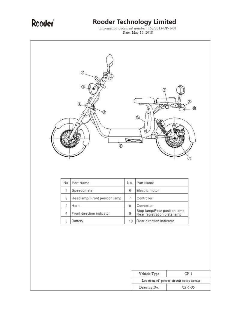 EEC approval harley electric scooter from Rooder Group Shansu technology limited (8)