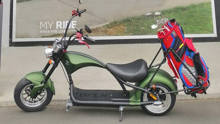 European Warehouse Stock Citycoco Scooter Harley Electric Chopper with golf bag holder