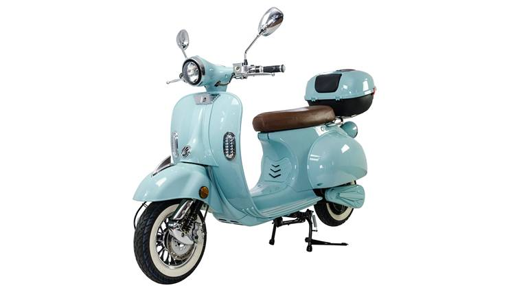 European warehouse street legal EEC COC 3000w 60v 40ah Removable Lithium Battery 65km/h top speed Retro Electric Scooter Vespa