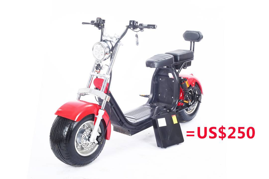 Rooder seev woqu city coco electrique big wheel electric e scooter harley with lithium battery for adult in france italia sweden usa brazil (1)