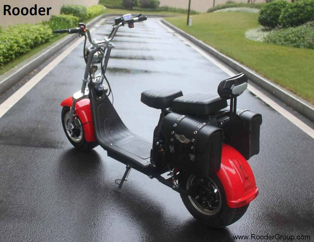 Rooder seev woqu city coco electrique big wheel electric e scooter harley with lithium battery for adult in france italia sweden usa brazil (2)