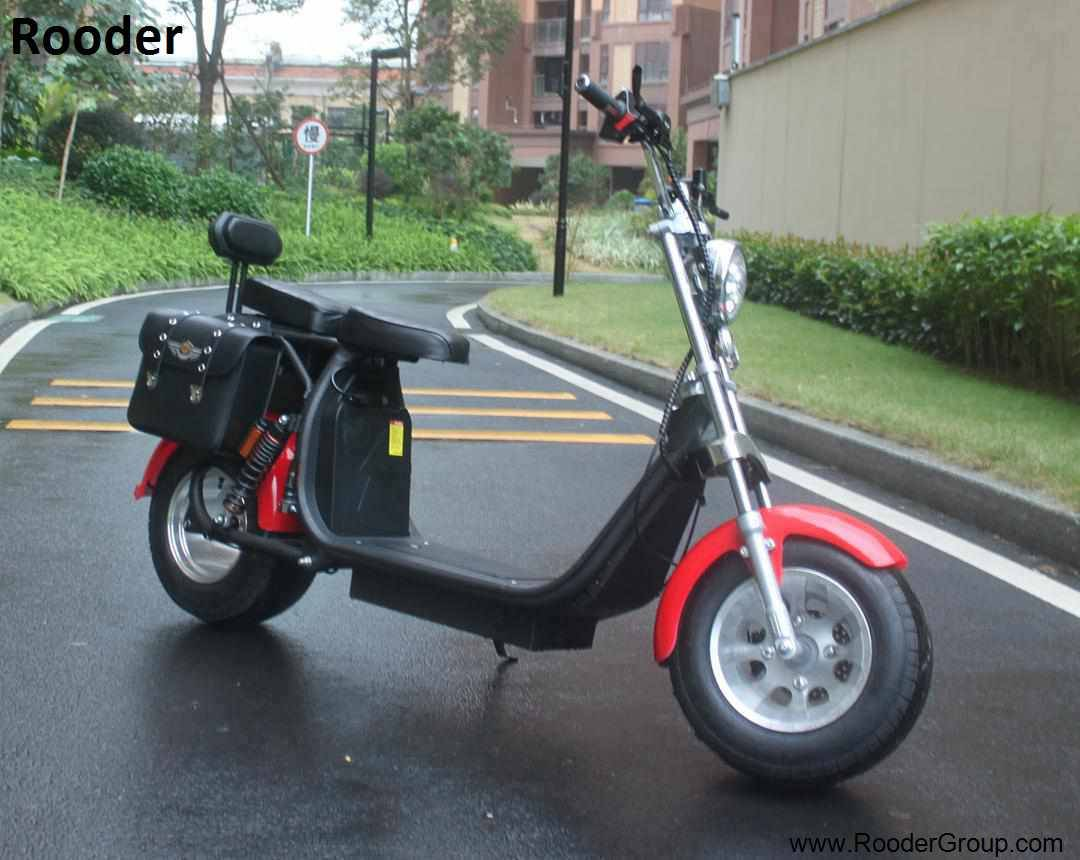 Rooder seev woqu city coco electrique big wheel electric e scooter harley with lithium battery for adult in france italia sweden usa brazil (5)