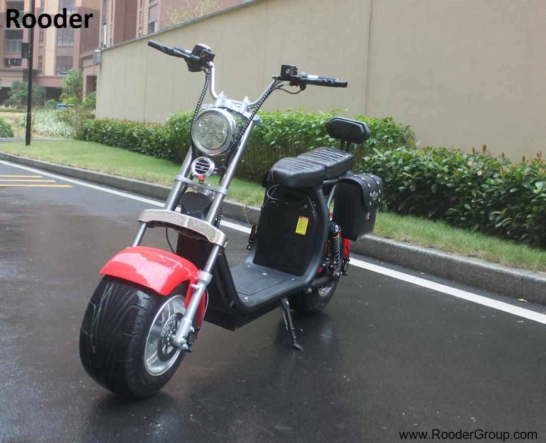 Rooder seev woqu city coco electrique big wheel electric e scooter harley with lithium battery for adult in france italia sweden usa brazil (9)