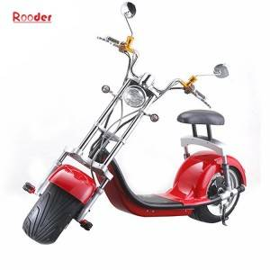 Rooder bagong harley electric scooter citycoco r804a may aluminyo gulong harap at likod shock suspensyon ng pag-on mga ilaw ng preno ilaw USB port rearview mirror lithium baterya