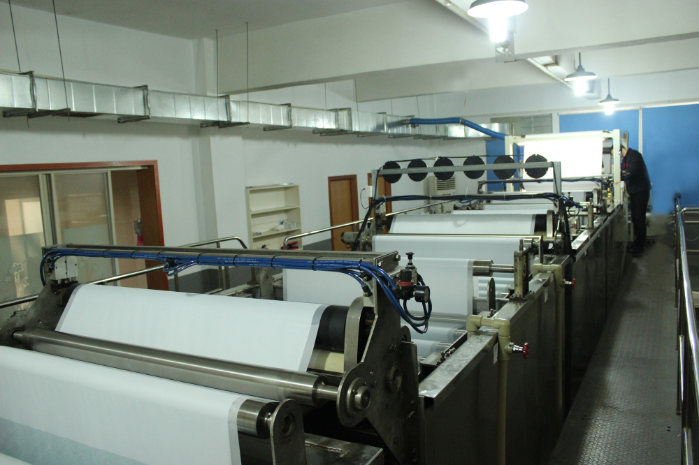Invested a full auto RO membrane flat sheet (composite polyamide) production line