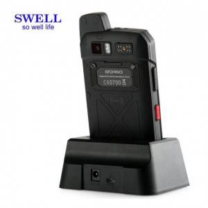 Android handheld pda rugged phone with docking mobile scanner