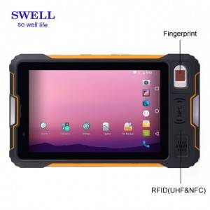 Rugged tablet pc handheld terminal UHF barcode scanner android 7.0  V810