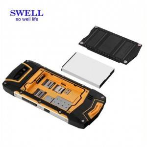 Ruggedized android handheld walkie talkie phone industrial pda android