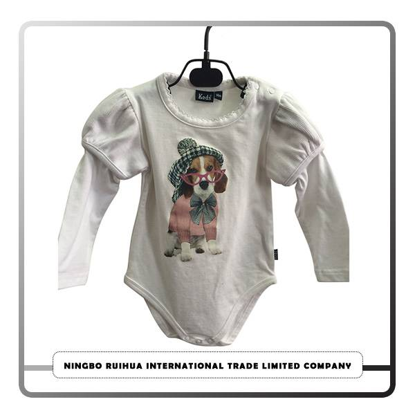 Factory directly Oem Custom Printed Men/women T-shirt - B girls romper 10 – RuiHua detail pictures