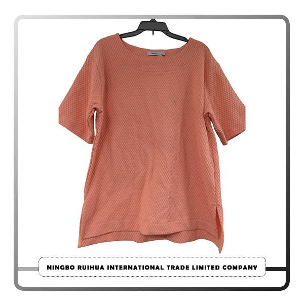 Cheap price High Quality Used Clothes - W short t-shirt (1) – RuiHua