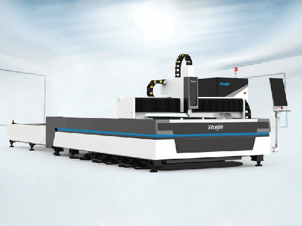RJ-3015E Fiber Laser Metal Cutting Machine with Exchange Table