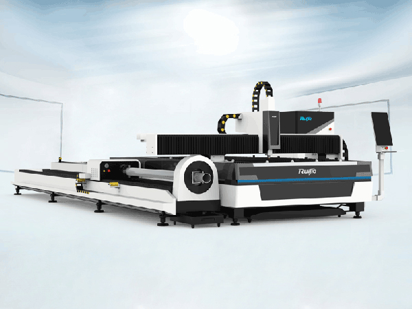 RJ-3015ET Plate and Pipes Fiber Laser Cutting Machine with Exchange Table