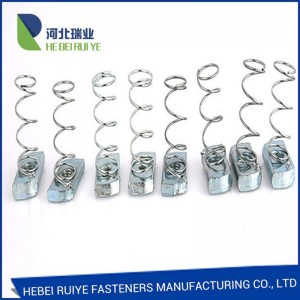 Factory direct supply carbon steel zinc plated spring nut