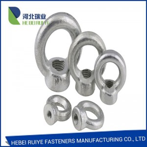 Galvanized Surface Carbon Steel Material Drop Forged Eye Nut DIN582