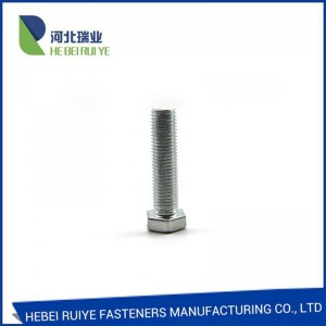 Din 933/931 galvanized Hex bolt