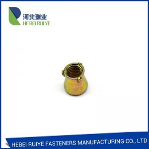 Factory manufacturer Carbon steel yellow zinc 3pcs anchor nut