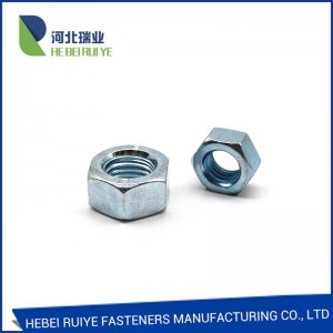 Sin HOT SALE heksagon kwayoyi sa 8 HEX NUT tutiya Plated