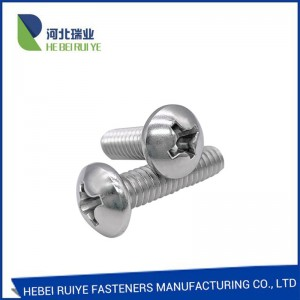 Zinc Plated Steel/SS304 SS316 Machine Screw