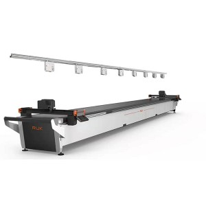 RUK Dual-Head CNC Knife Cloth Cutting Machine / läder