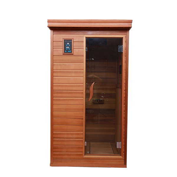 Home Using 1 Person Wood Infrared Indoor Sauna and Steam Combined Room