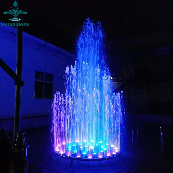 2-3m Stainless Steel Water Fountain High Pressure Garden Fountain with Light for Lake