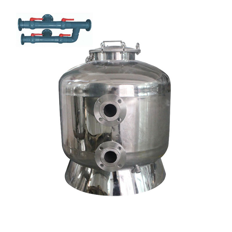 Chinese 304 stainless steel large size side mount swimming sand pool filter cleaner for sale