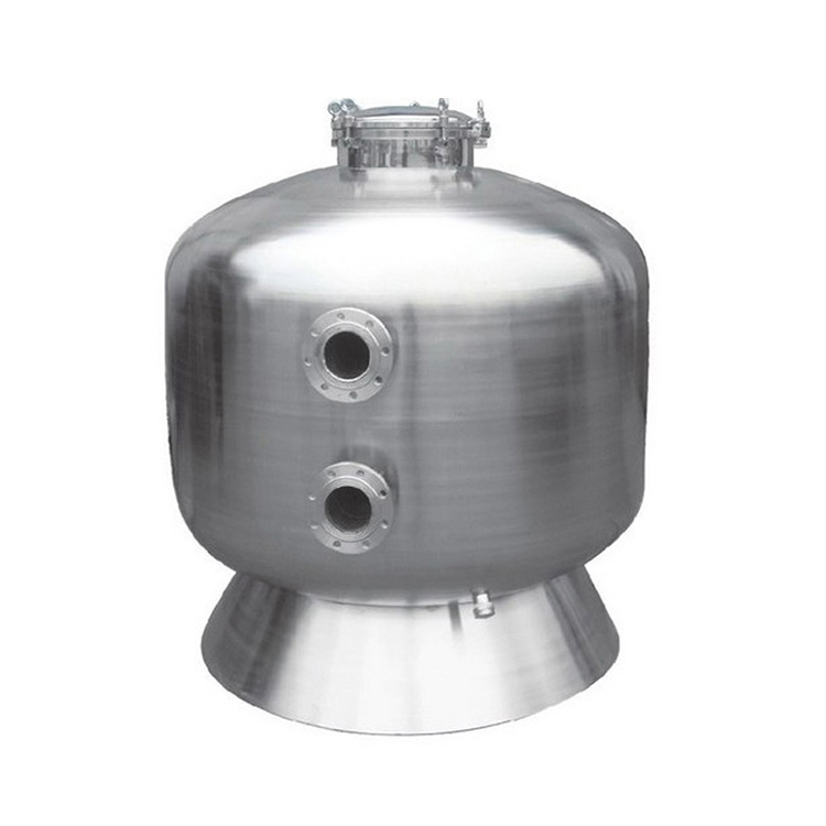 China large size types of stainless steel swimming pool machine water side mount sand filter equipment system