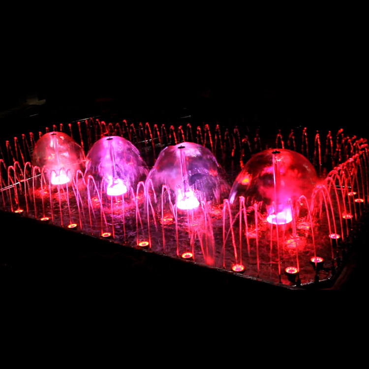 Stainless steel unique outdoor modern LED light dancing water spray fountain