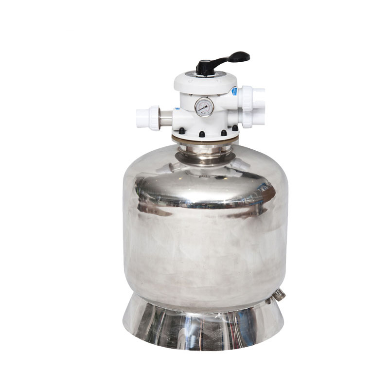 Big discount 304 stainless steel 400mm diameter swimming pool top mount quartz sand filter