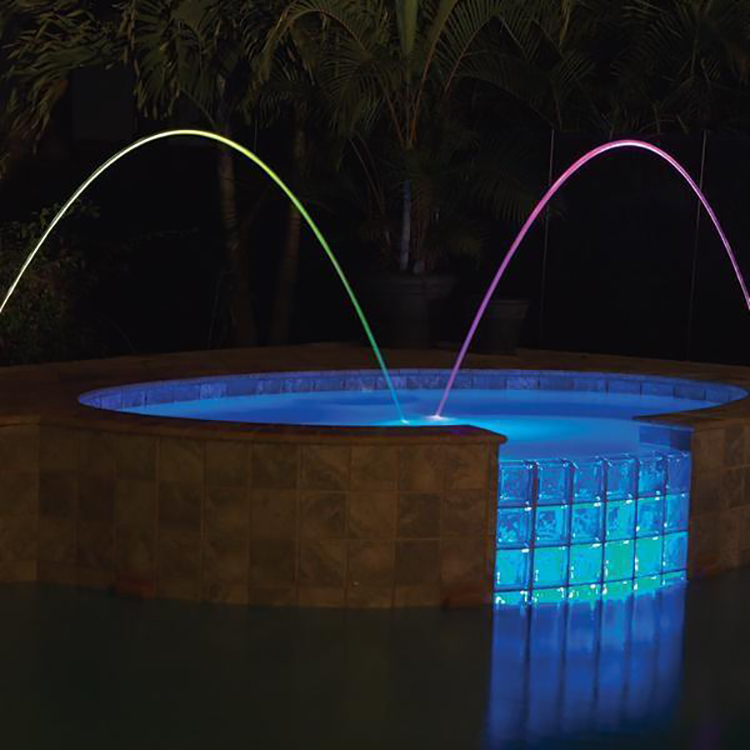 2019 Indonesia government project led colorful fountain musical water show equipment