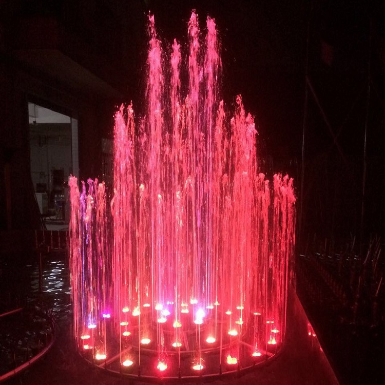 Multi-colour CE Certified Outdoor Music Dancing Garden Water Light Fountain