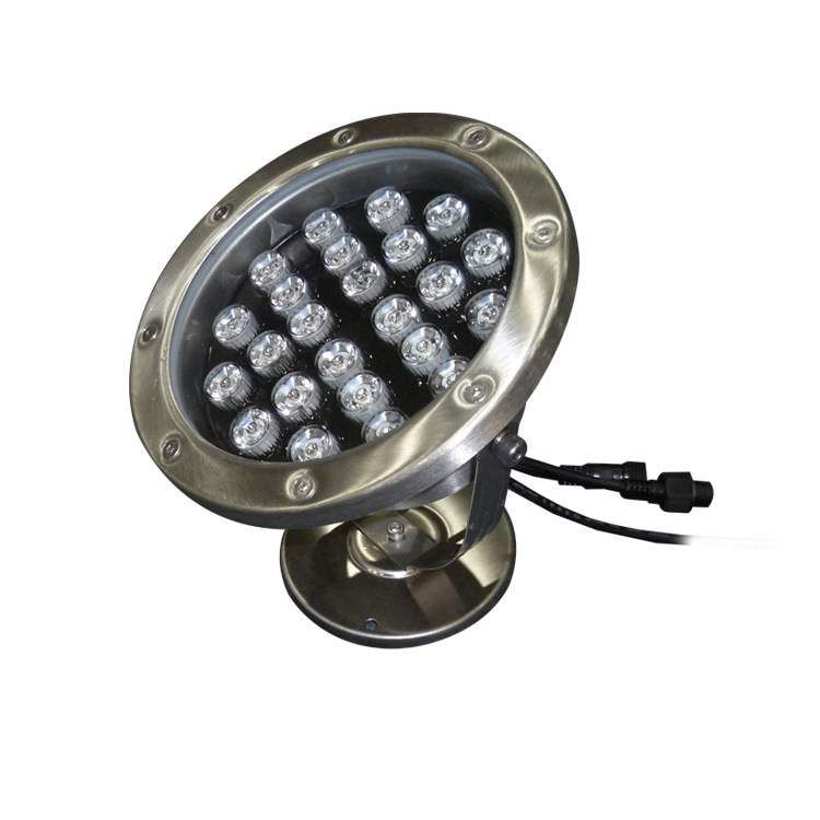 OEM customized 24W led fountain waterproof light ip68 for garden