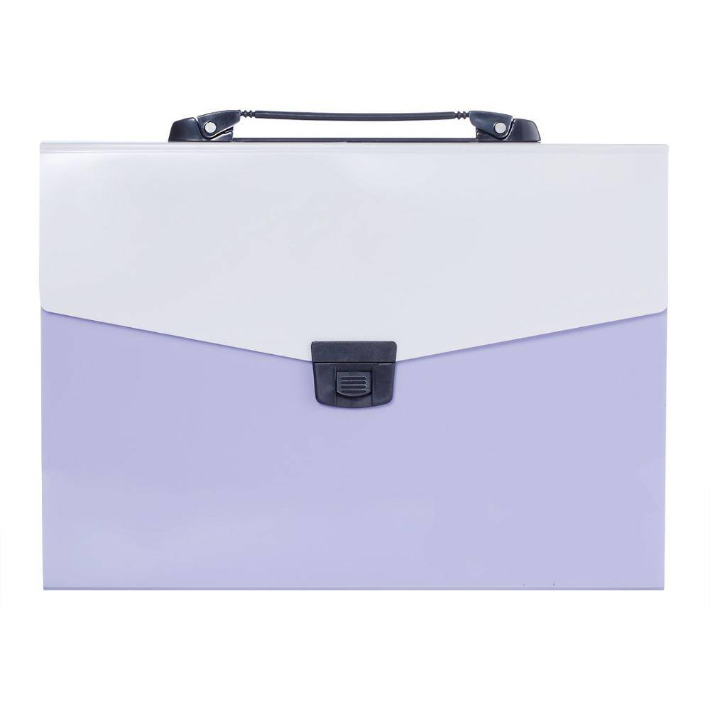A4 Size13-Pockets Poly Accordion Expanding File Folder with Handle and Tabs