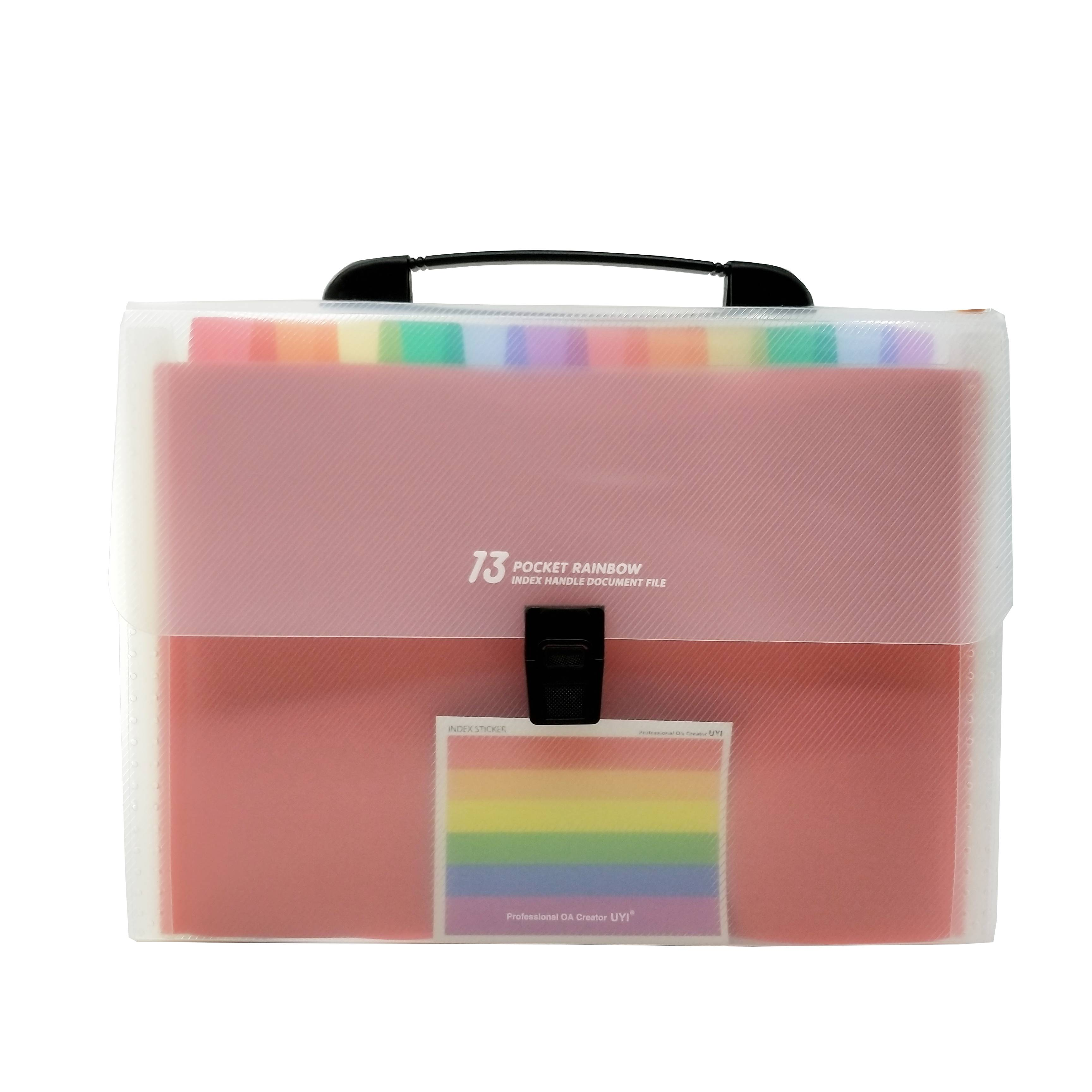 Free sample for PP Mushroom Holes Ring Binders - 13 Pockets-Handle Portable Expandable Multicolor A4 Accordion File Folder for Business Office – Ruiyinxiang