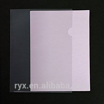 factory Outlets for PP File Bag - L-type plastic folder US letter size Safe Project Pockets Transparent Clear Document Folder for Plastic Paper Sleeves – Ruiyinxiang