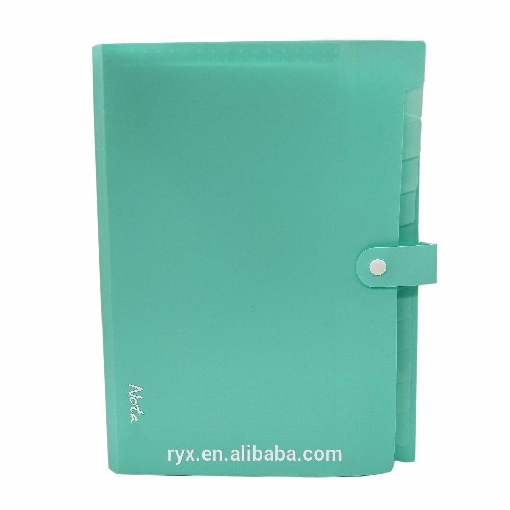 Original Factory Stationery Factory Guangzhou Manufacturers - a4 paper filing expanding file folder with With Plastic Button Closure – Ruiyinxiang
