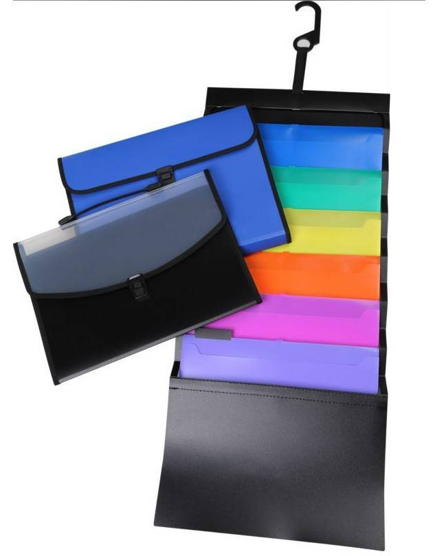Factory Promotional PP Expanding File folders - Colorful Foldable Cascading Wall File Folder Hanging File Organizer Wall Mount Pocket Chart with 6 File Pockets – Ruiyinxiang