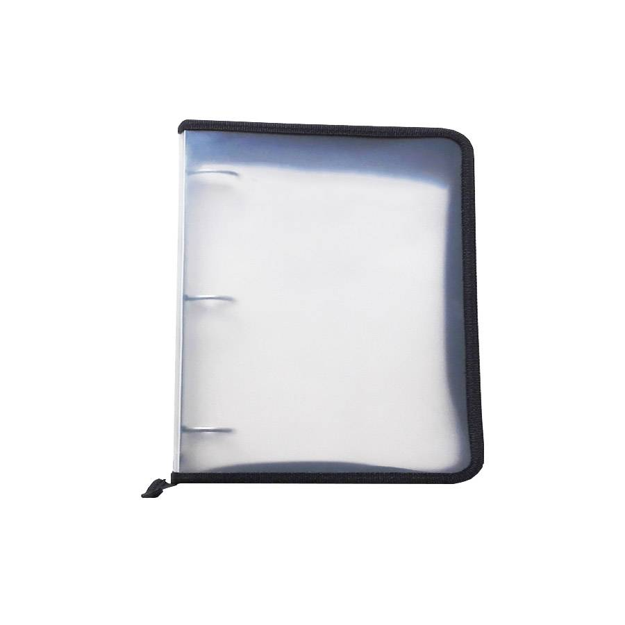 Low MOQ for PVC File Bag - School Office Clear PP 3 Ring Binder File Folder A4 Zipper Document Bag – Ruiyinxiang detail pictures