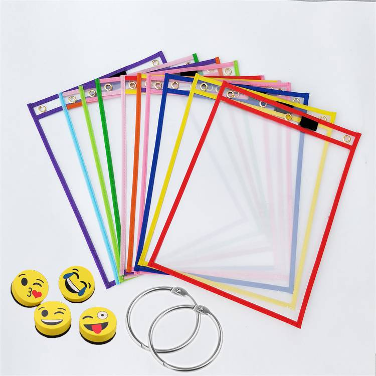 "Wholesale Dealers of L Shape File Folder - Dry Erase Pockets (10"" x 13"") -Reusable & Oversized Clear Plastic Sleeves for Classroom Organization, Teacher or School Supplies – Ruiyinxiang Featured Image"
