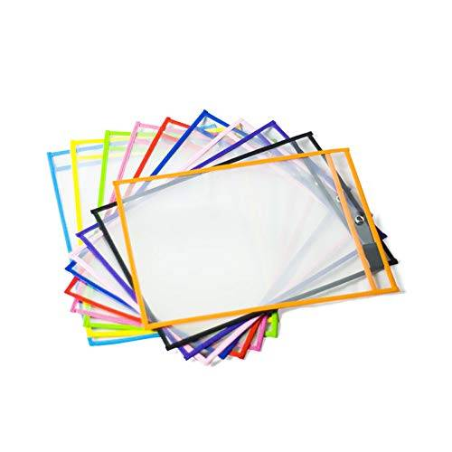 PVC Reusable 9 x 12 Inch Dry Erase Pocket 25 Pieces Per Box