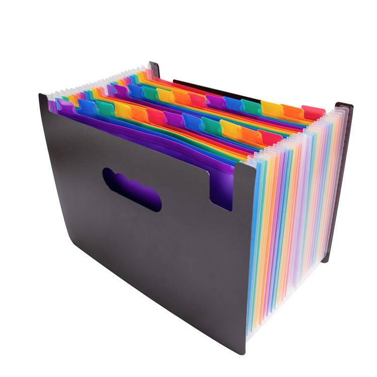 Good Quality File Folder - 24 Pockets Expanding File Folder – Large Plastic A4 US Letter Size Expandable File Organizer Self Document Accordion File Folder – Ruiyinxiang