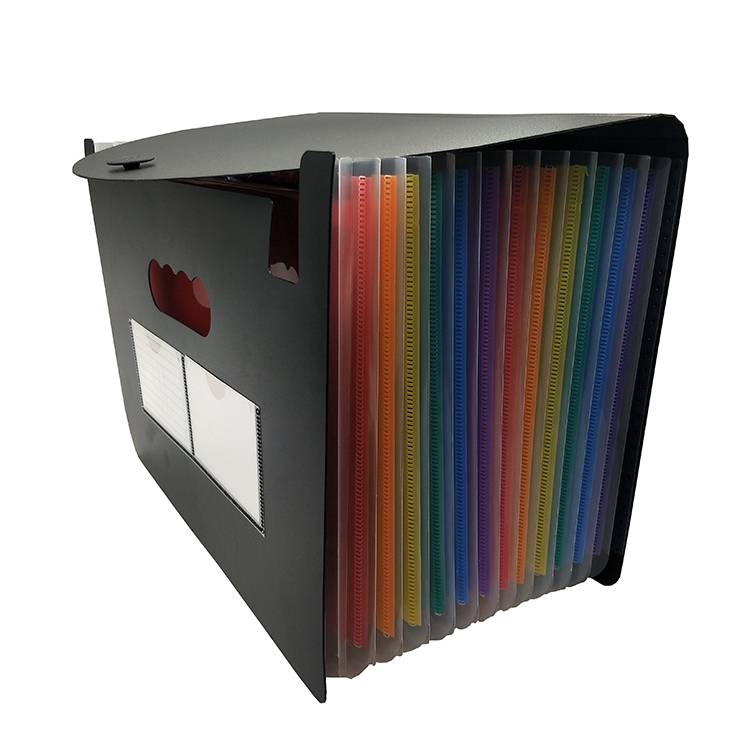 China wholesale Hanging File Folders - 24 Pockets Expanding File Folder with Cover Rainbow Expanding and Self-Stand Accordion Large Capacity Expanding Wallets – Ruiyinxiang