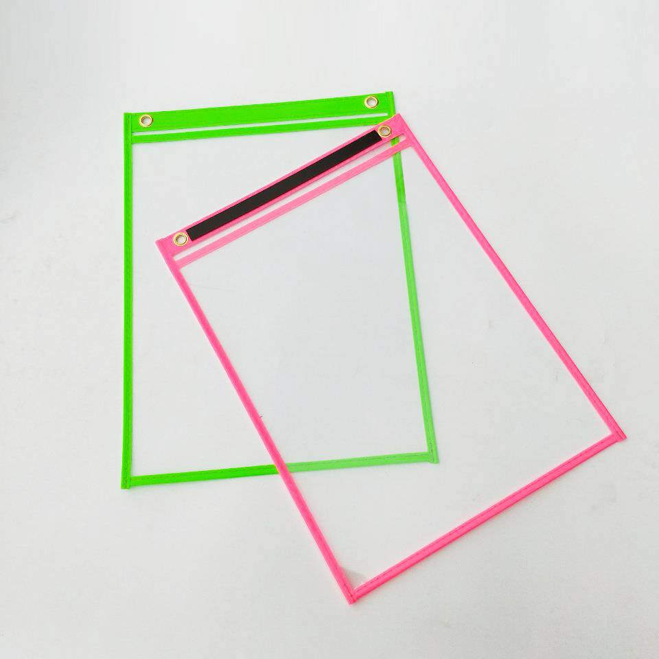 Factory supplied Guangzhou Stationery Market - Clear Transparent Reusable Magnets Dry Erase Pocket Sleeves Sheets with PVC Material Surface for Smooth Writing and easy erasing – Ruiyinxiang
